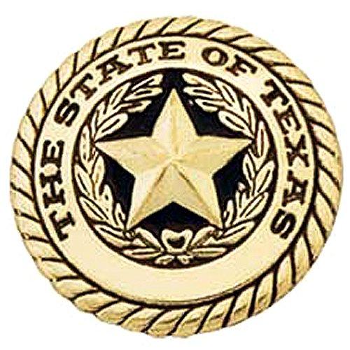 Star Tacks (1 inch HILASON WESTERN BRASS PLATED TEXAS SEAL STAR CONCHO W/ SCREW HORSE TACK)