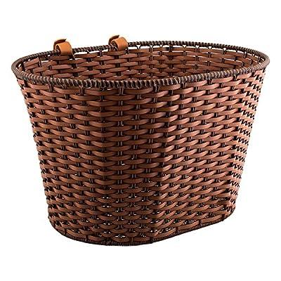 SUNLITE Deluxe Rattan Basket w/Velcro Straps, Brown : Bike Baskets : Sports & Outdoors