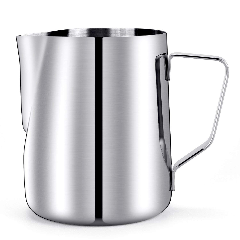 20 Oz. Milk Pitcher, HULISEN Stainless Steel Espresso Pitcher Latte Frothing Pitcher