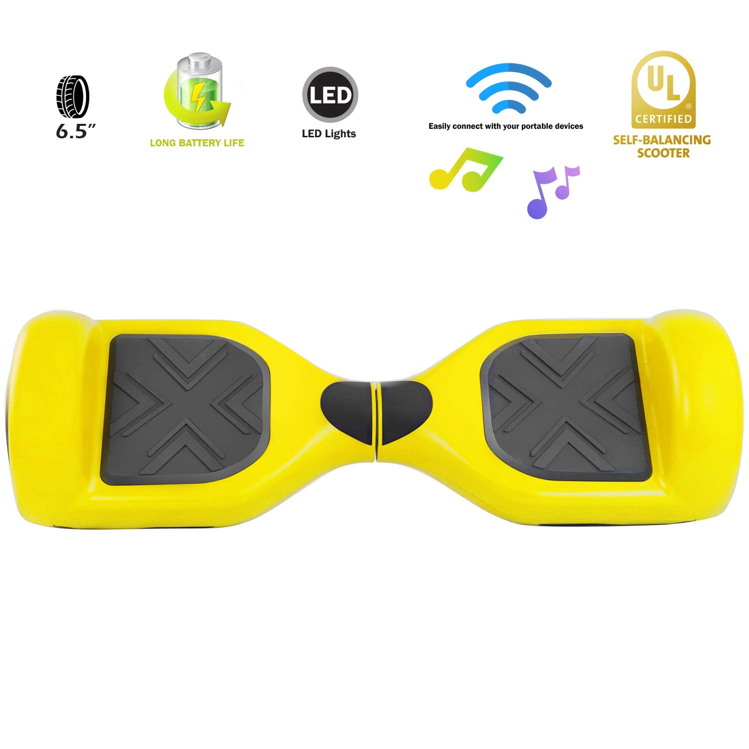 XPRIT Easter Sale Hoverboard w/Bluetooth Speaker (Yellow) by XPRIT (Image #3)