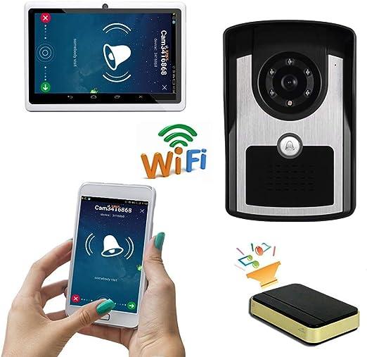 YLXD Videoportero Timbre de Video, WiFi Timbre Intercomunicador ...