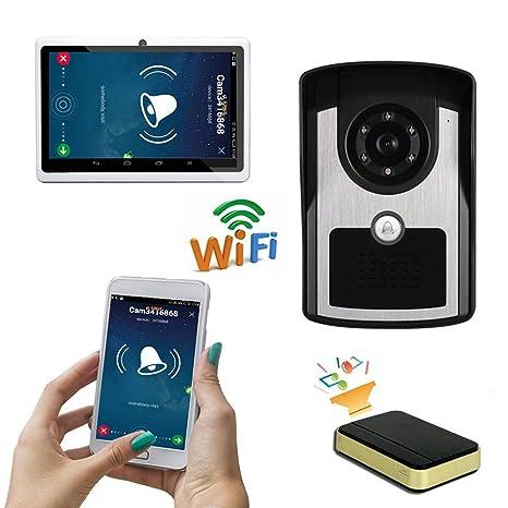 YLXD Videoportero Timbre de Video, WiFi Timbre ...