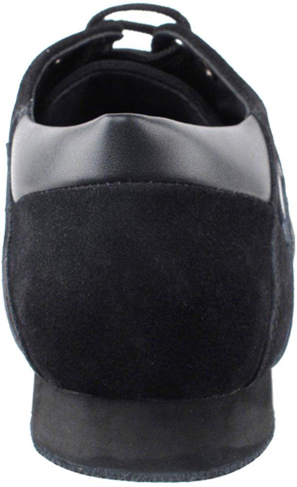 Men's Ballroom Latin Salsa Sneaker Dance Shoes Leather Black SERO106BBXEB Comfortable - Very Fine 8.5 M US [Bundle of 5] by Very Fine Dance Shoes (Image #5)