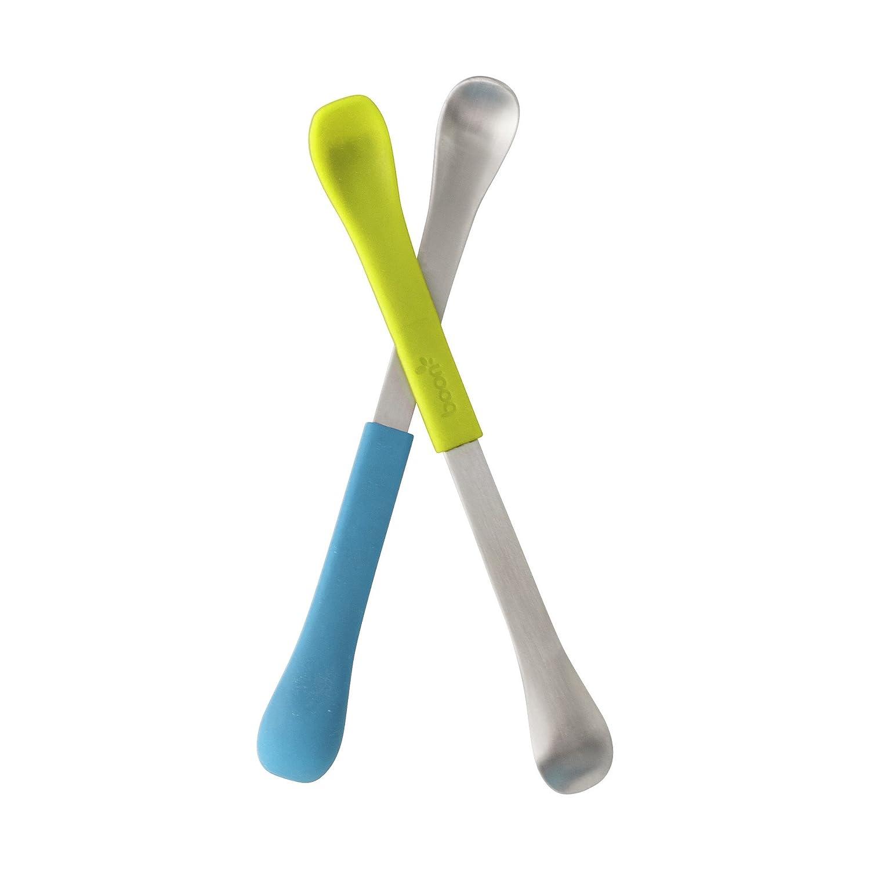 Tomy Boon Vaisselle Couvert Swap Cuillères Bleu/Vert Pack de 2 B10150