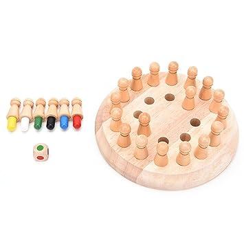 Natureich Memory Holz Spiel mit Spielfiguren/Montessori Spielzeug ...