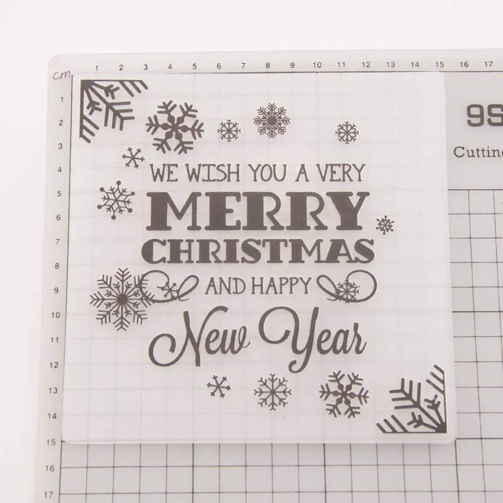 Huwaioury Embossing Folder Template for DIY Scrapbook Photo Album Card Snowflake