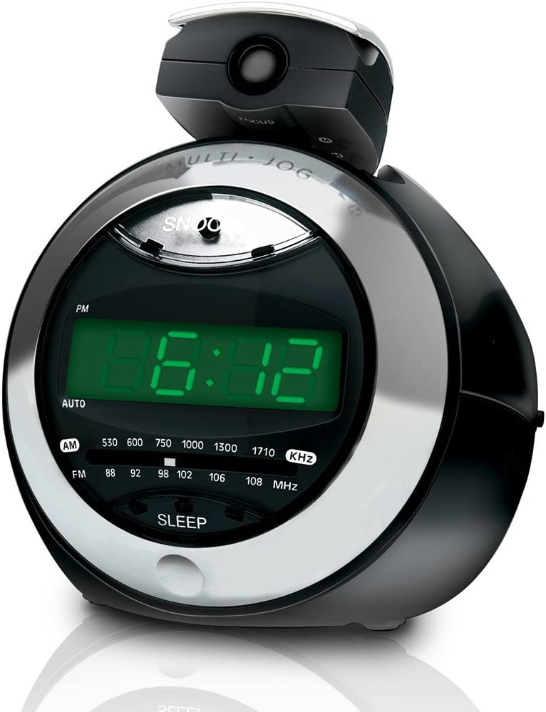 Coby Alarm Clock Radio Radio Portable Horloge Numérique Noir