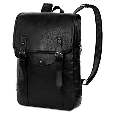 67edee9c1d6b Vbiger Mens Pu Leather Backpack Vintage College School Bags Casual Daypack   Amazon.co.uk  Luggage