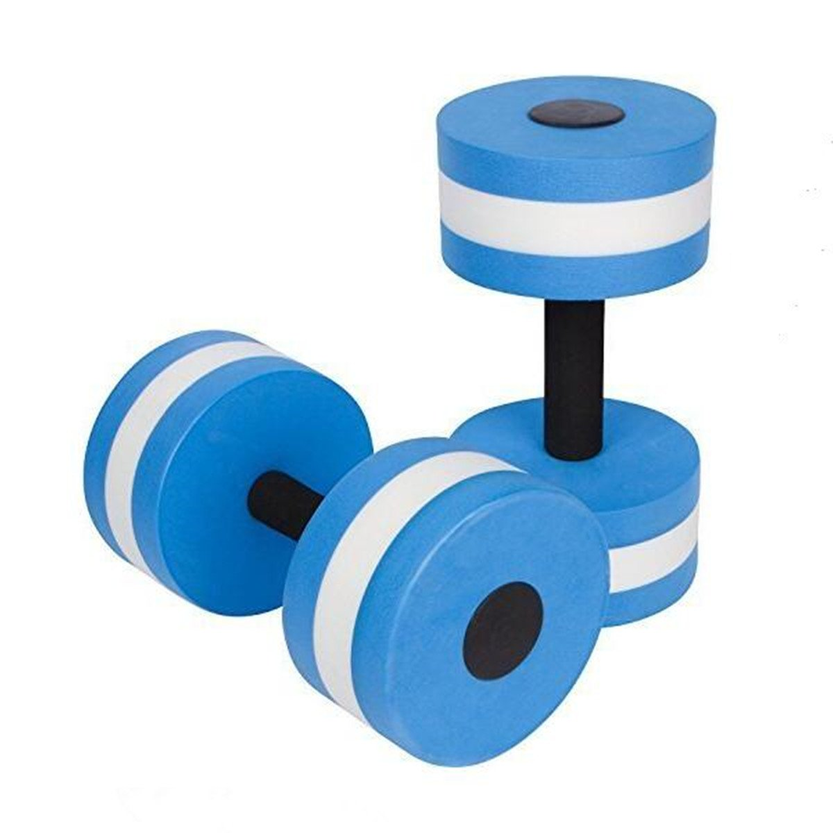 VERISA aqua dumbbell EVA Exercise Foam Dumbbells for Water Aerobics Fitness and Pool Exercises - 1 Pair - 3 Colors Available (BLUE)