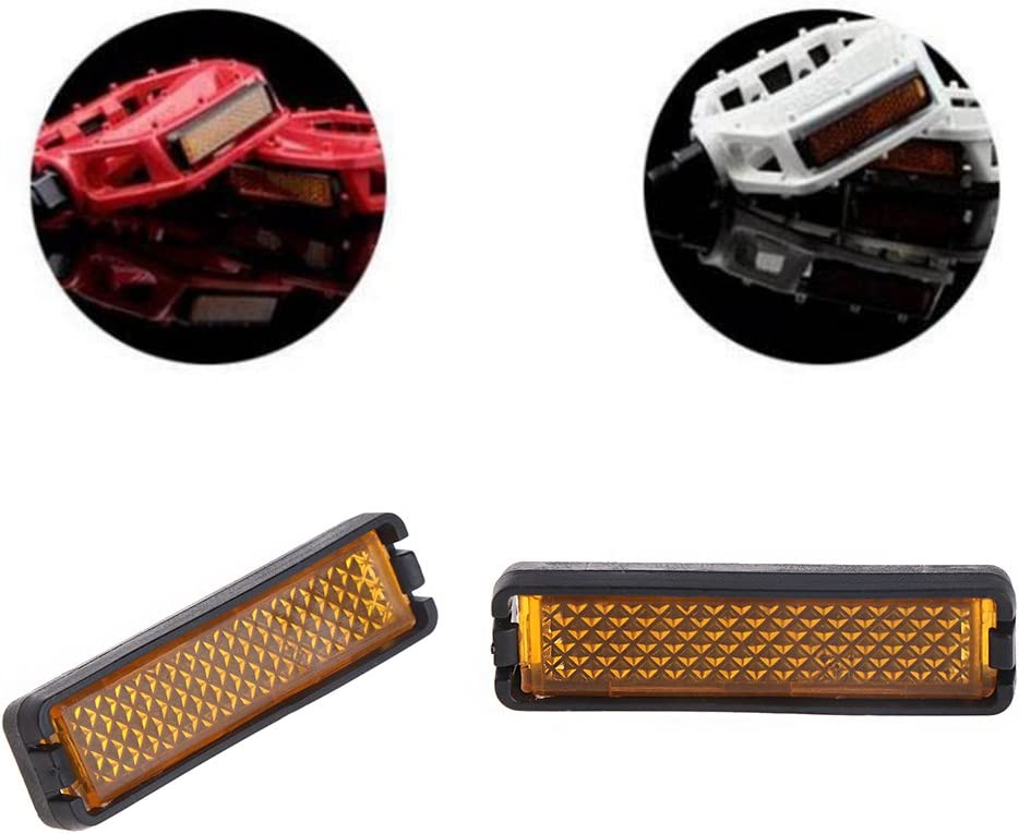 Bicycle Pedal Reflector LDA Get Fresh 4 Pieces,Set Bicycle Pedal Reflector Safety Night Cycling Reflective Bike Accessory As The Picture