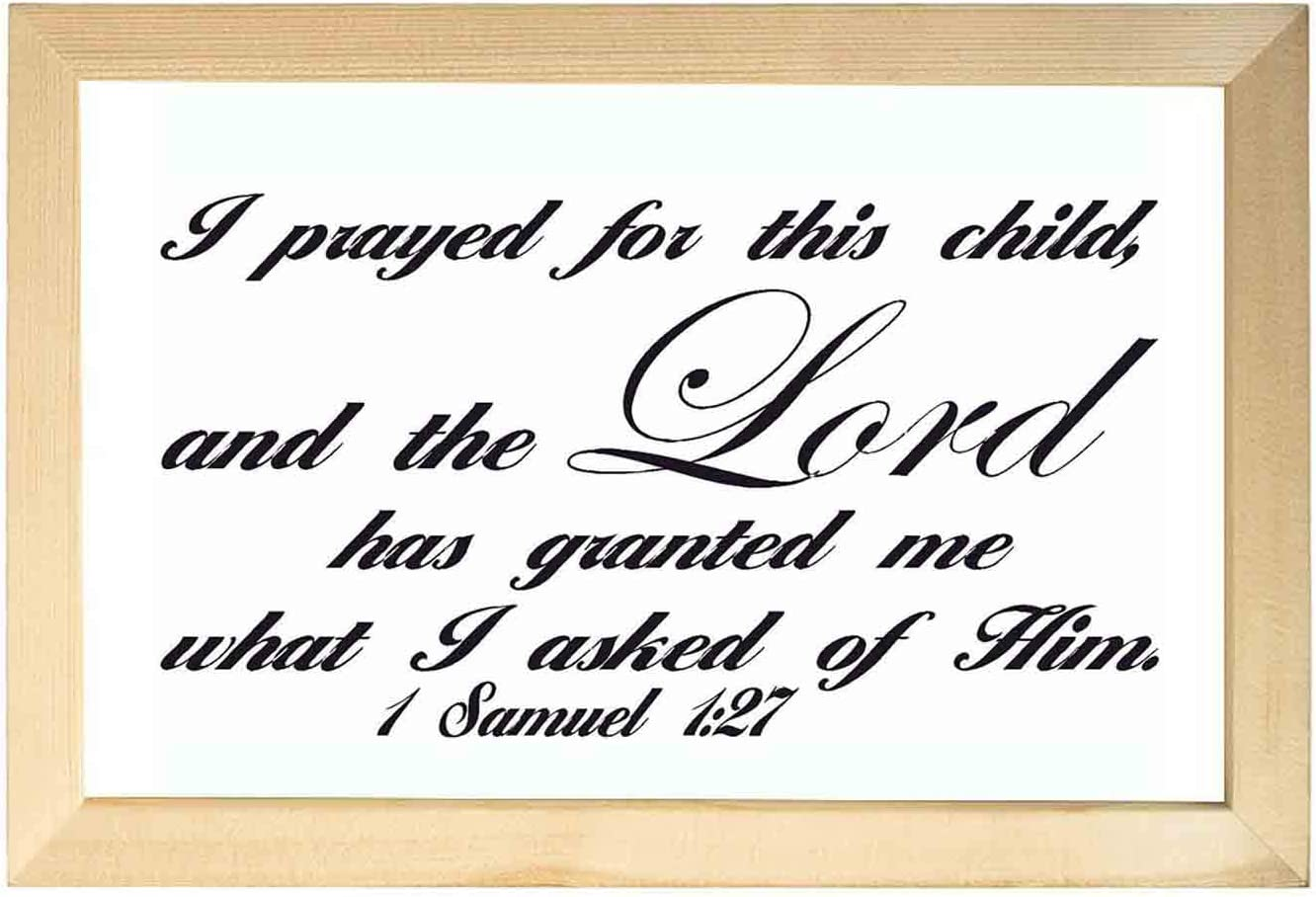 Wooden bible paintings for wall-Samuel 127 Inspirational Wall Art Decor Bible Verse Psalms Home Decoration Painted Artwork Ready to Hang for Living Room Bedroo 20X30CM