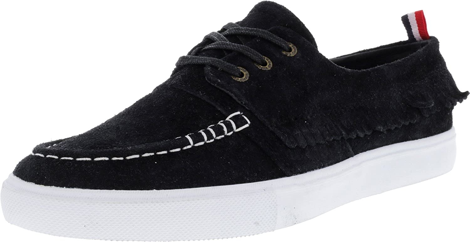 Diamond Men's Yacht Club Ankle-High Suede Athletic Boating Shoe Diamond Men' s Yacht Club Black Ankle-High Suede Athletic Boating Shoe - 8M