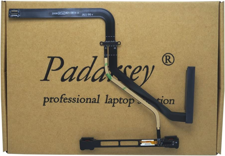 "Padarsey 922-9062 HDD Hard Drive HD Cable w/IR/Sleep/HD Cable with Bracket 821-0814-A for MacBook Pro Unibody 13"" A1278 2009 2010(Notice: Please Check Your Part NO. is 821-0814-A only)"