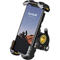 Soporte Movil Bicicleta, Lamicall Soporte Motocicleta - Rotación 360° Soporte Manillar para iPhone 12 Mini, 12 Pro Max…