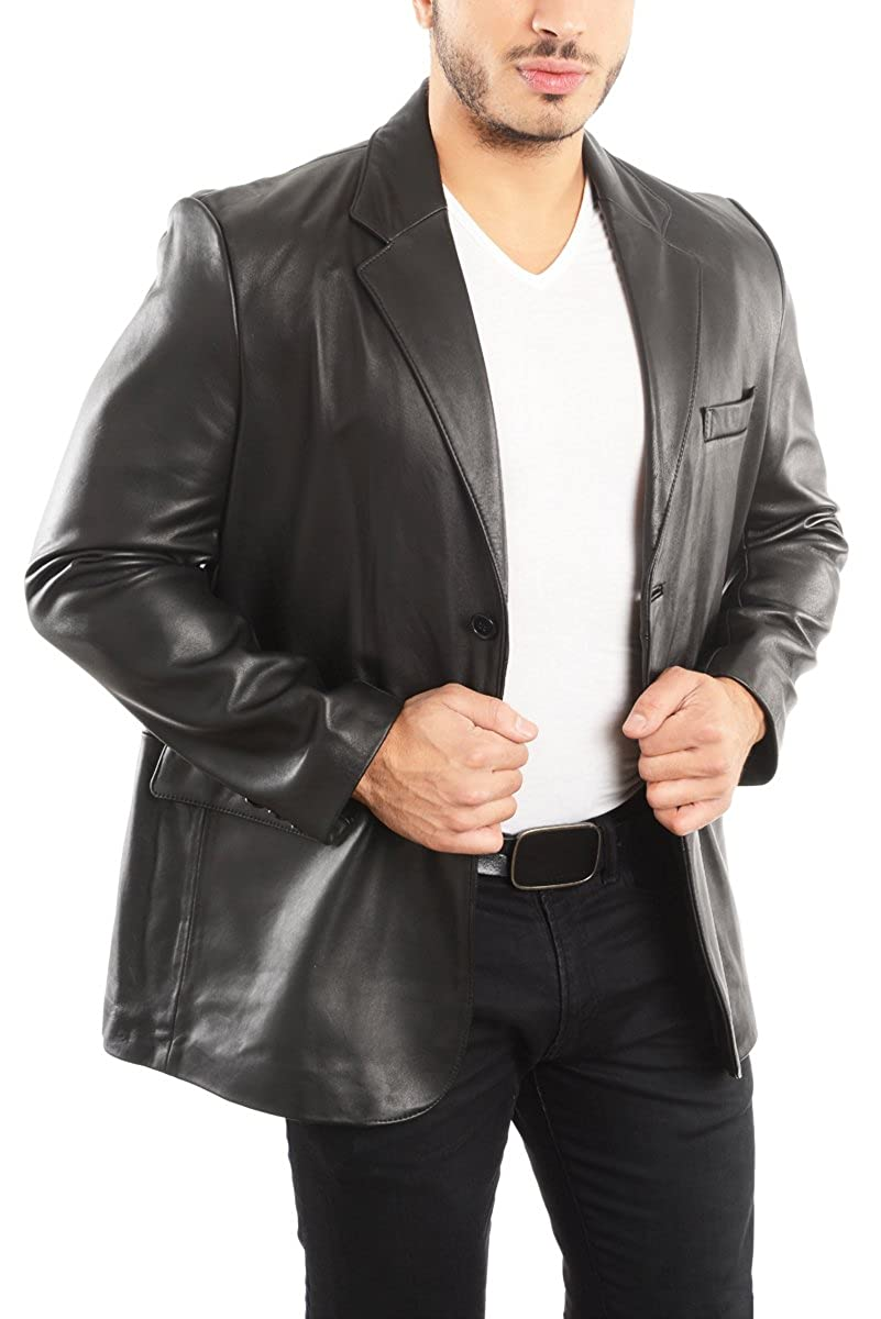 aa2a39b72eeb REED Men s Leather Blazer Jacket (Imported) at Amazon Men s Clothing store