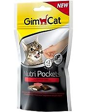 GIMPET Gimcat nutripockets con carne de res y de malta 60 g - Golosinas de gatos