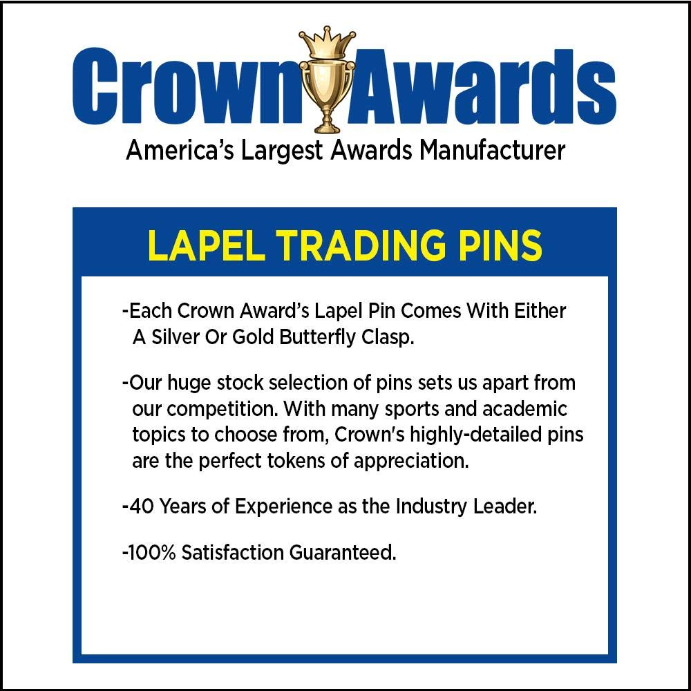 Crown Awards Gold Super Star Lapel Pins - 1.25'' Star Recognition Award Pins 20 Pack Prime by Crown Awards