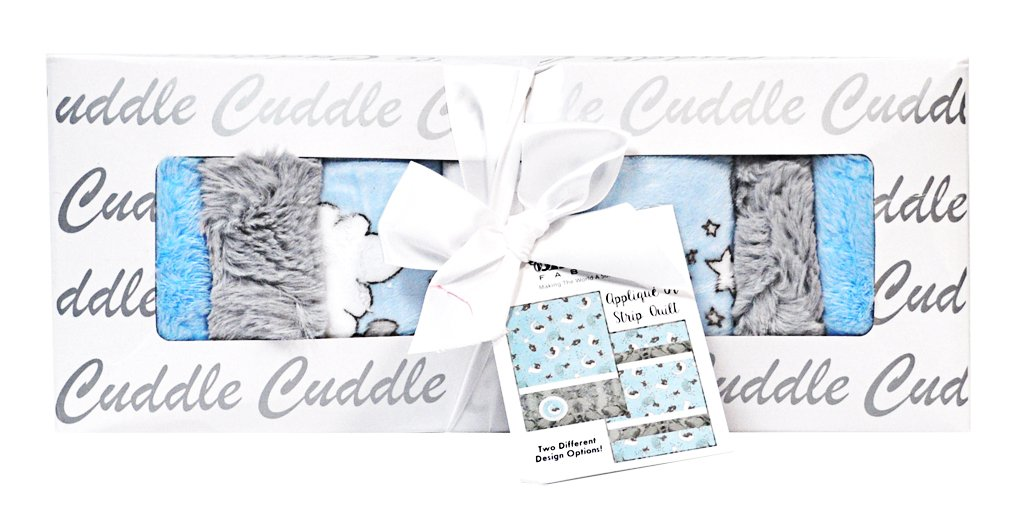 Minky Lullaby Lucky Star Blue Cuddle Kit Quilt Kit Shannon Fabrics CKLULLABY LUCKY STAR BLUE