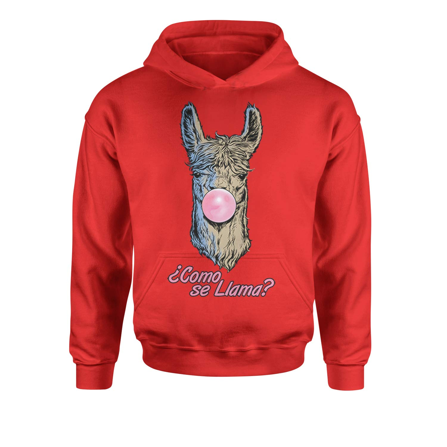 Expression Tees Como Se Llama Bubble Gum Youth-Sized Hoodie