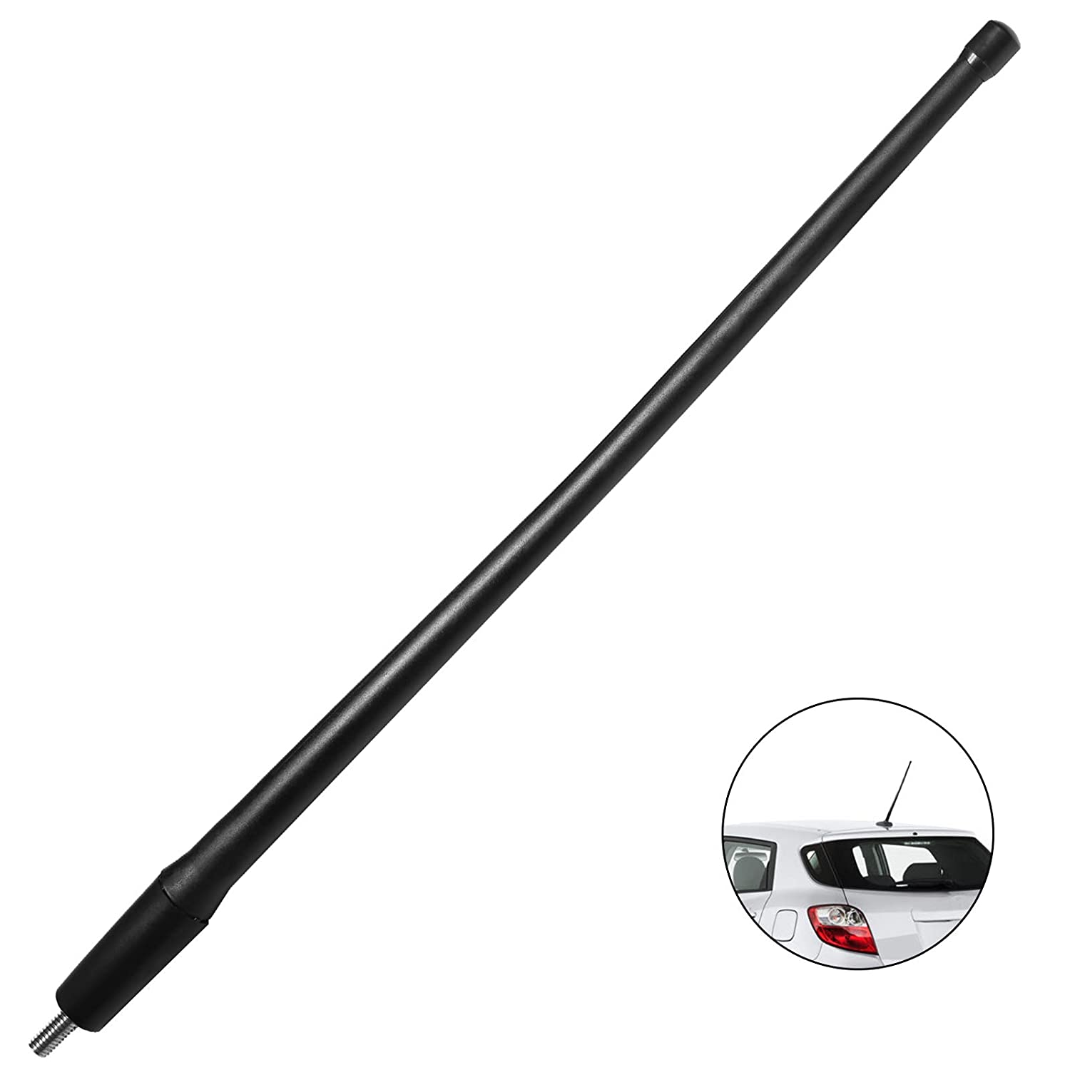Black JAPower Replacement Antenna Compatible with Toyota Matrix 2003-2013 13 inches