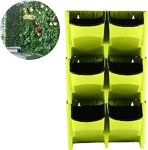 ZDYLM-Y Bolsillos jardín Vertical Pared, La Maceta Colgante de Pared Tiene 6 Bolsillos, para Hierbas, Verduras y Flores.: Amazon.es: Deportes y aire libre
