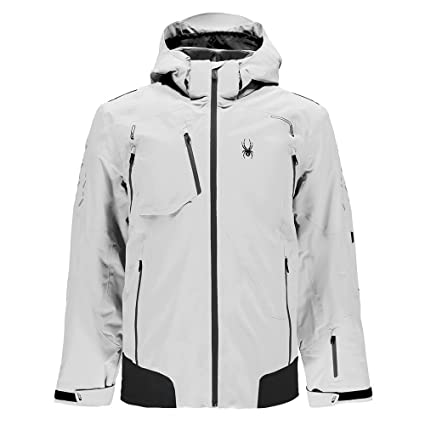 fa00720c79 Amazon.com   Spyder Legend Pinnacle Men s Ski Jacket White - XL (54 ...