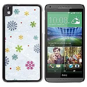 For HTC DESIRE 816 Case , Snow Winter Gift Christmas - Diseño Patrón Teléfono Caso Cubierta Case Bumper Duro Protección Case Cover Funda