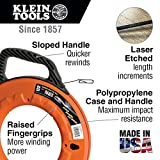 Klein Tools 56001 Fish Tape, 50-Foot Steel, Great for Heavy Duty Wire Pulls, Laser Etched for Conduit Measuring