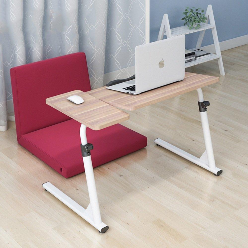 YNN 折りたたみテーブルベッドサイドノートパソコンの怠惰なテーブルベッドの使用ソファサイドテーブル調節可能な勉強デスク (色 : 木の色) B07DS3XVFY 木の色 木の色