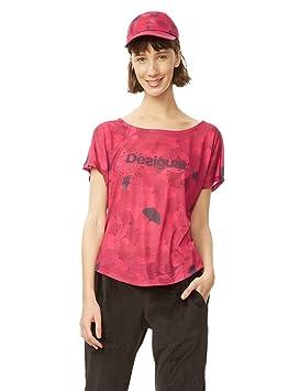 Desigual TS_Oversize Ginko Danc 3052 Camisetas, Mujer: Amazon.es: Deportes y aire libre