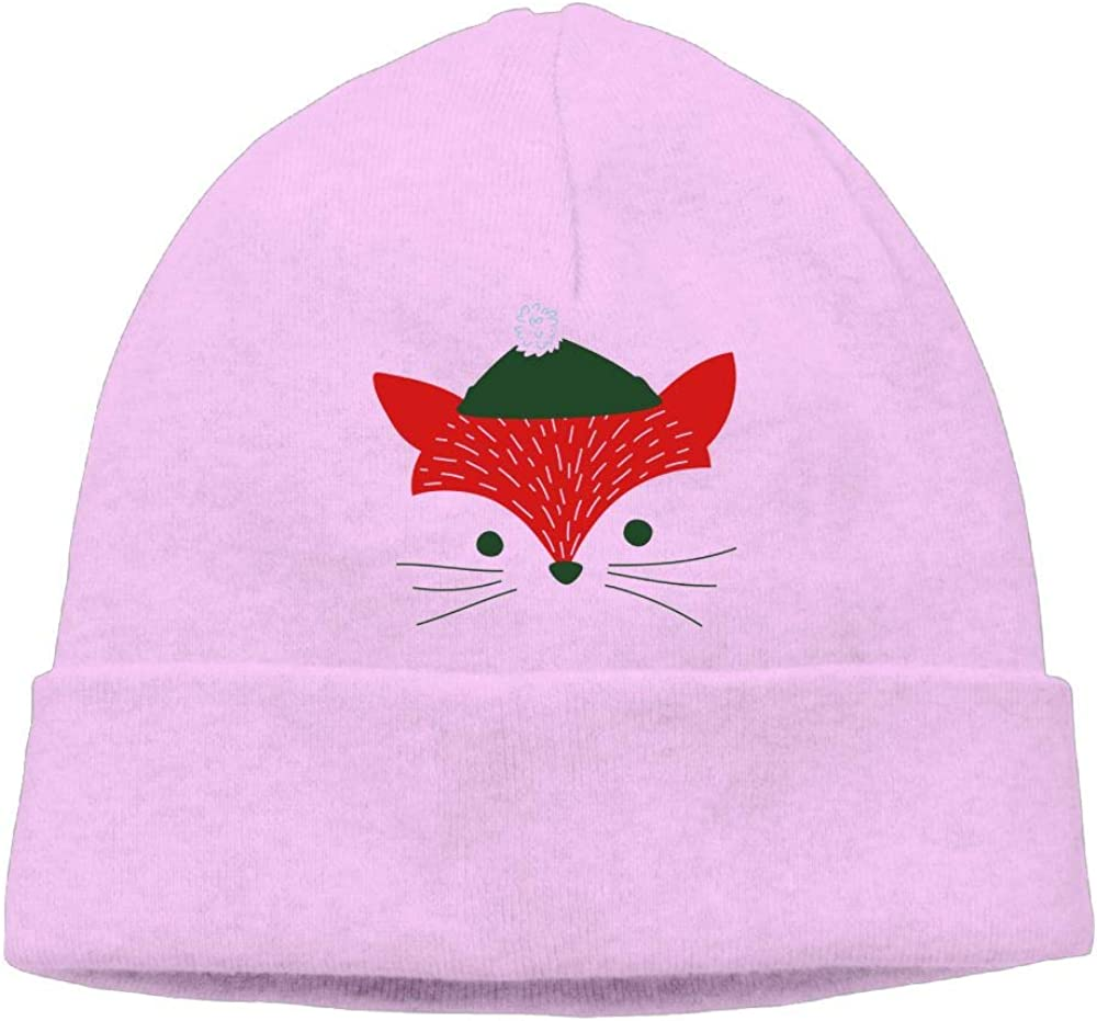 Christmas Fox Beanie Cap Knit Caps Mens Slouchy Soft