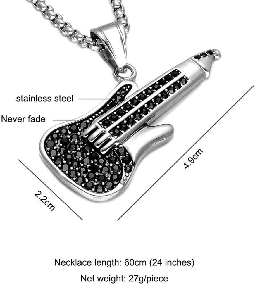 Luziang Collar Hombre Colgante Diamante Collar Acero de Titanio ...