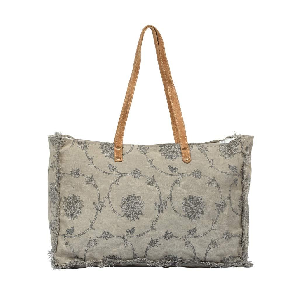 Myra Bag Throng Upcycled Canvas Weekender Bag S-1308