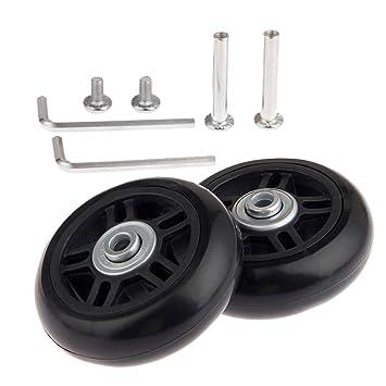 "Equipaje ruedas de recambio OD 80 mm (3.15) ID 6 mm (0.24 """