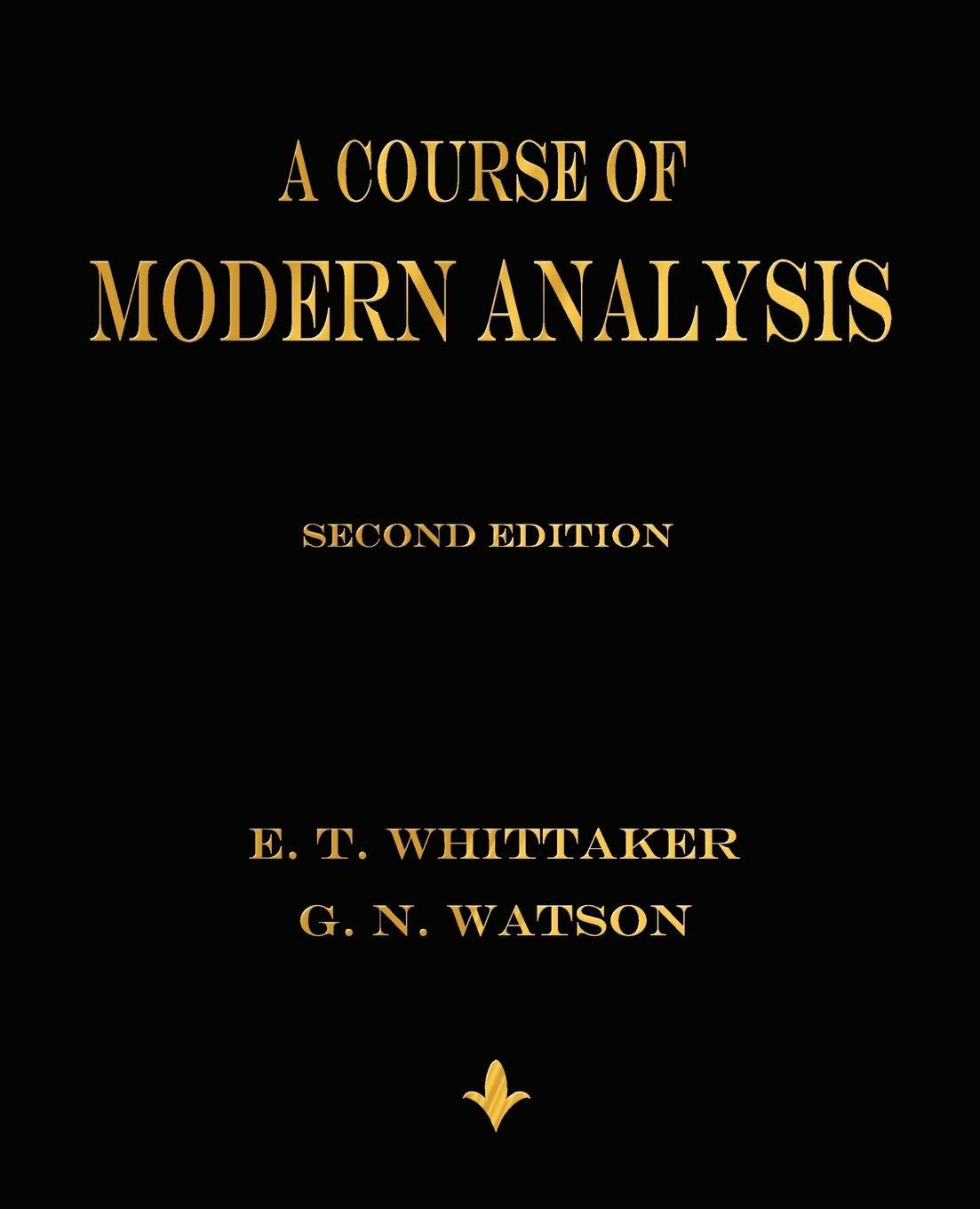 A Course of Modern Analysis ebook