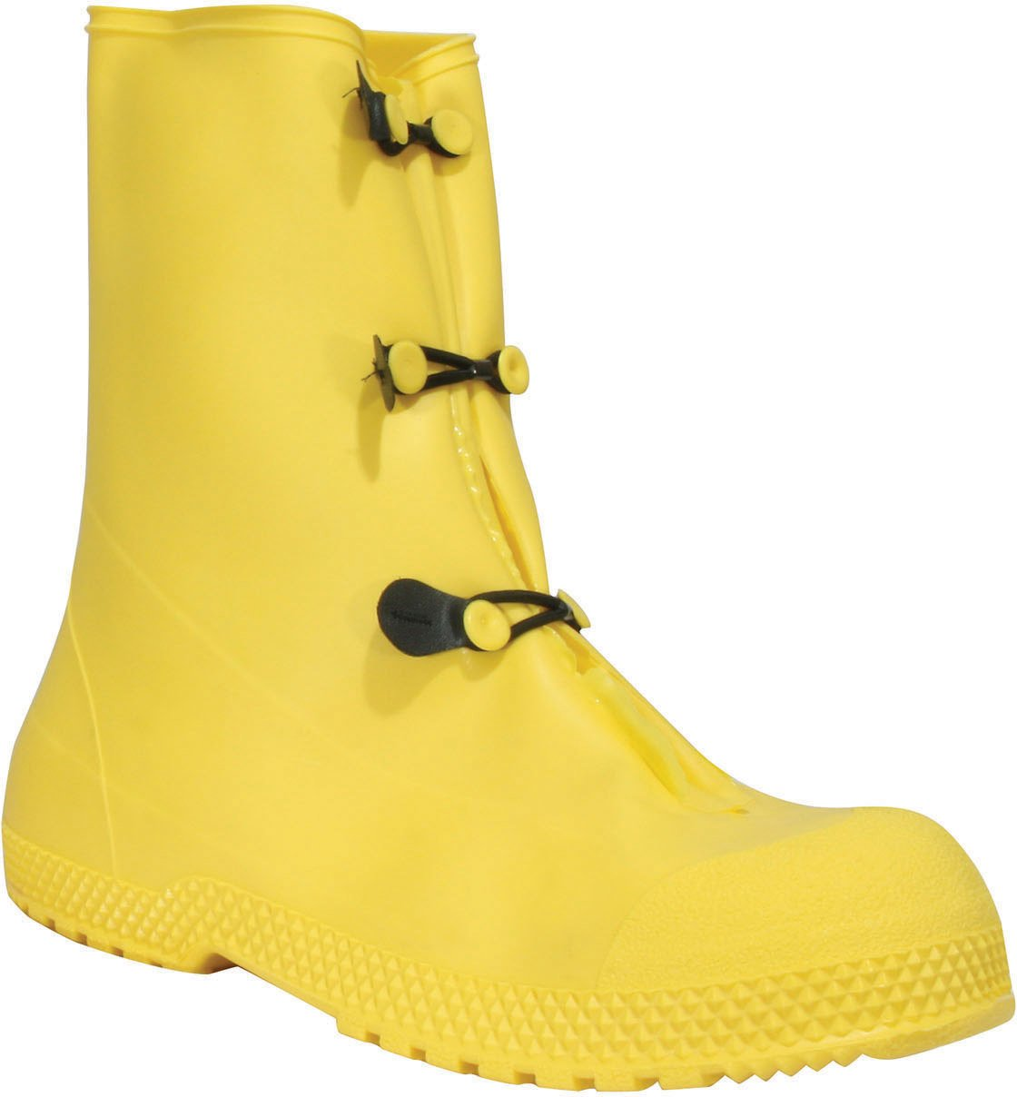 Servus SuperFit 12'' PVC Dual Compound Men's Overboots, Yellow (11926-Bagged) by Honeywell