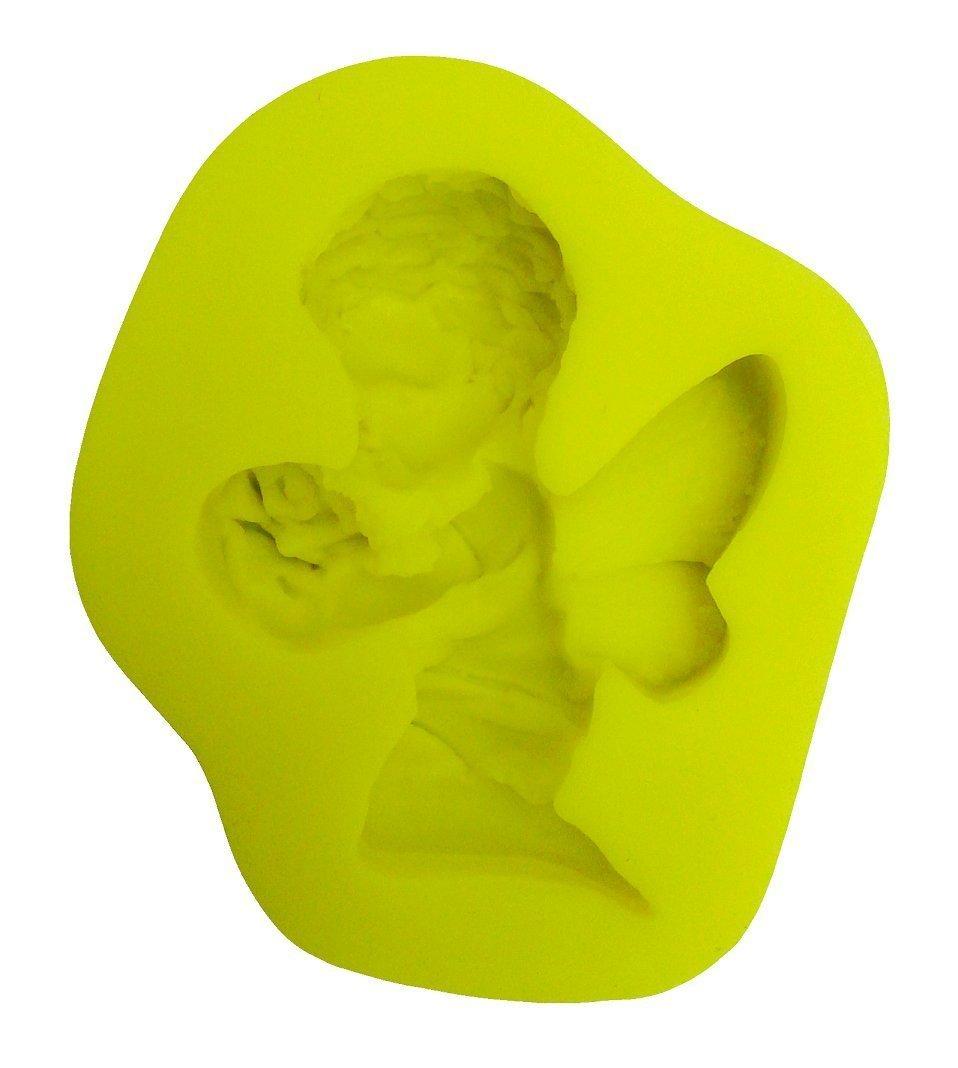 /également adapt/é pour Le Savon Inception Pro Infinite Moule en Silicone pour lutilisation Artisanale dun b/éb/é Ange avec Une Fleur dans Les Mains