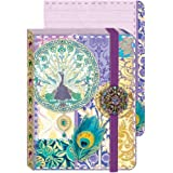 Punch Studio Everyday Brooch Pocket Journals-Beautiful Royal Peacock 58263