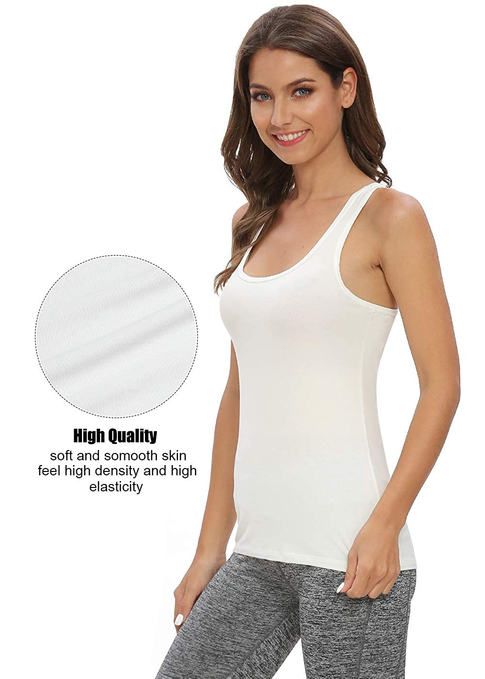 Star Vibe Racerback Tank Tops for Women 4 Pack Workout Tanks Undershirts Yoga Shirts Sleeveless Basic Tank Tops