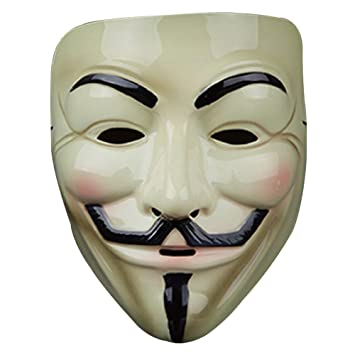 Guizen Máscara/ Careta de V para Vendetta Mask/Anonymous/Guy Fawkes mask-