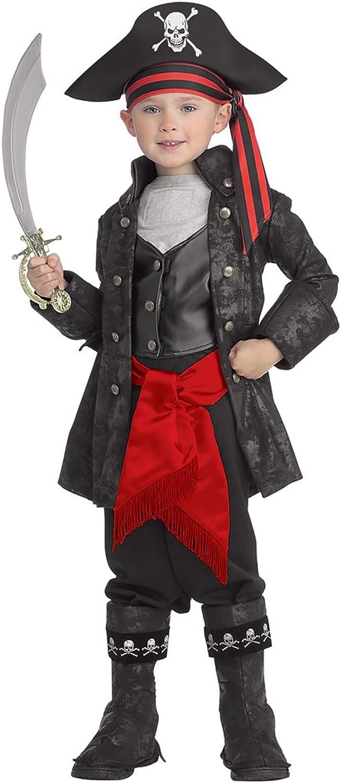 Pirates of the Seven Seas Child's Captain Black Costume, Small