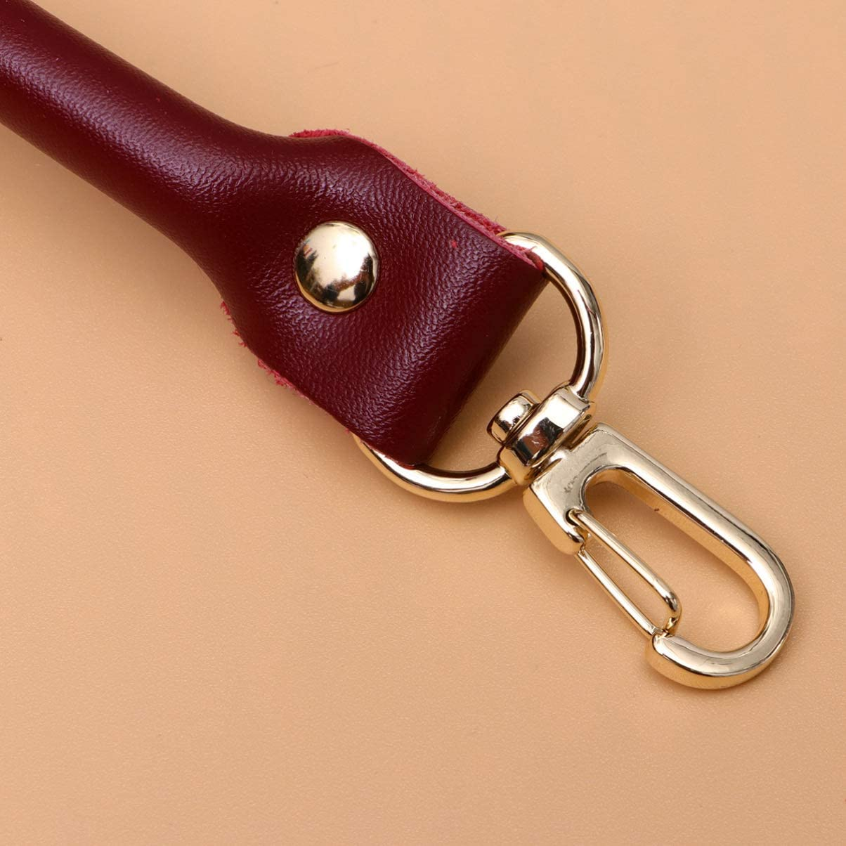 40CM Brown Healifty 2PCS Leather Handbag Handles Replacement Purse Wallet Straps with Metal Lobste Buckle