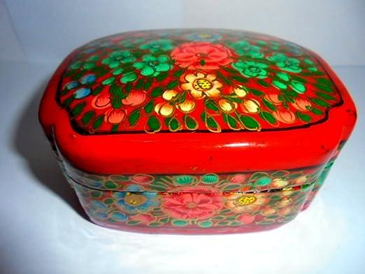 artcollectibles India Raro y hermosa pintada a mano joyero de ...
