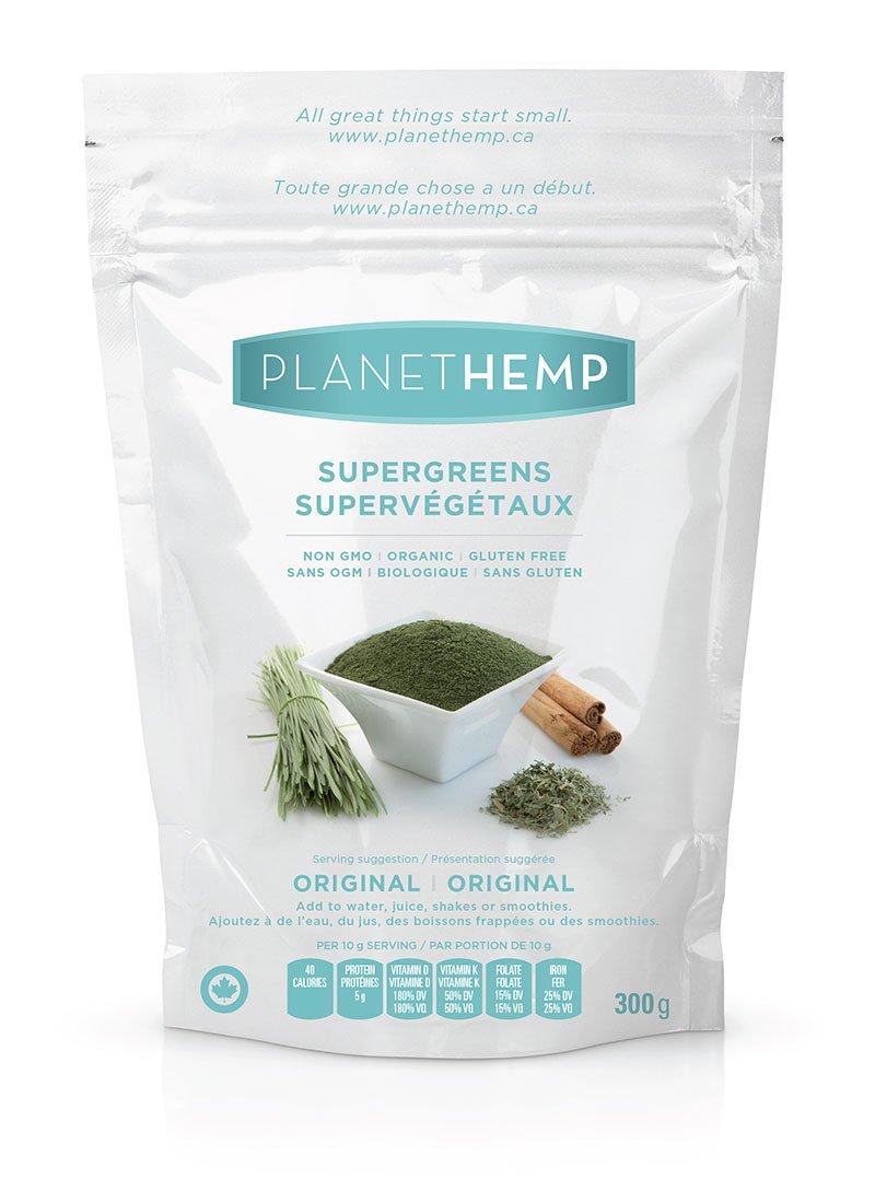 Planet Hemp - Supergreens Organic Plant Protein Drink Mix - 300g