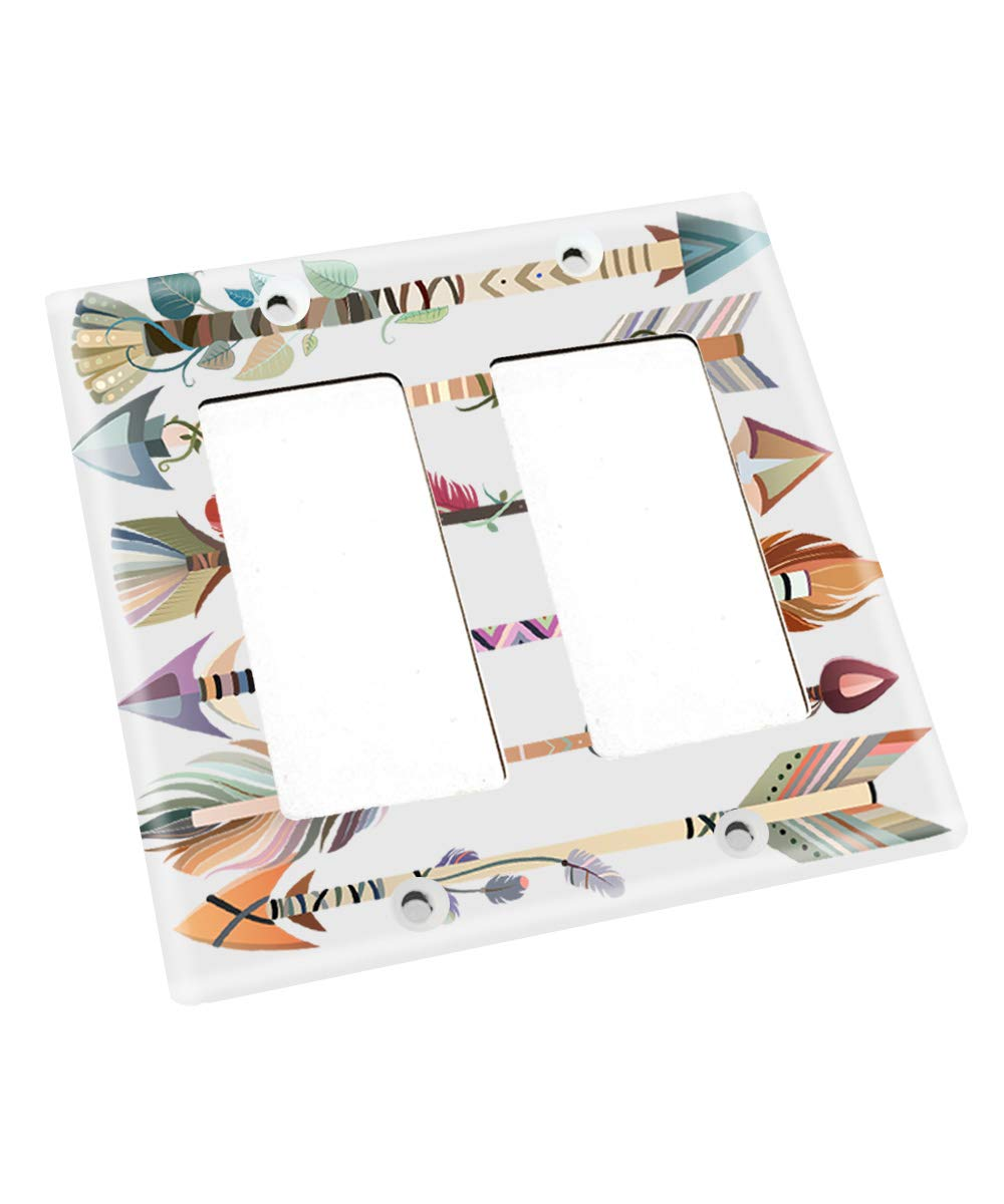Native Arrows Pointing Nursery Bedroom Single Light Switch Cover LS0124 (Double Standard) by Toad and Lily