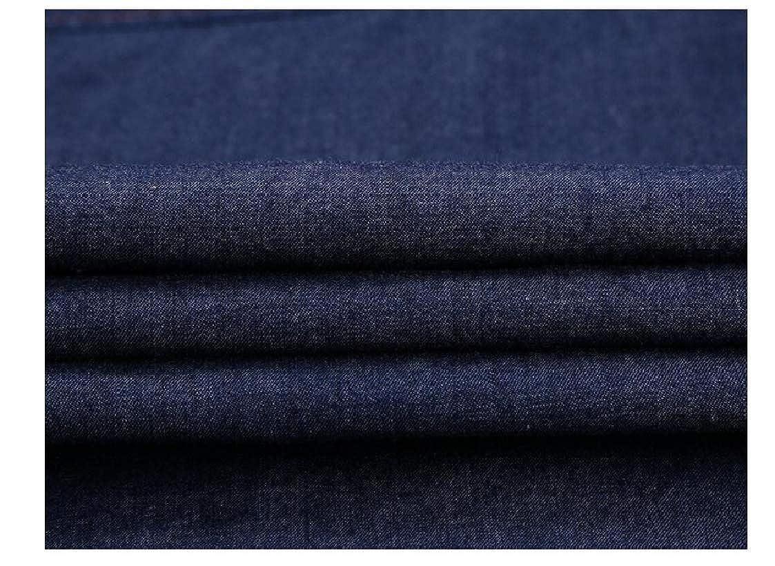DressU Mens Leisure Comfort Denim Cotton Dress Shirts