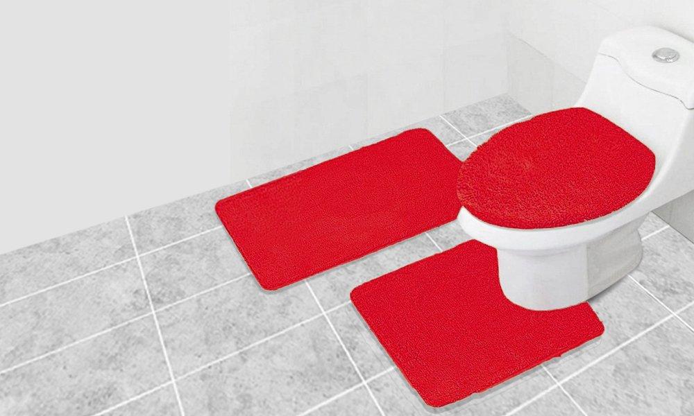 Popular Bath Bath Rug, Lastige Set, 3-Piece Set, Lime