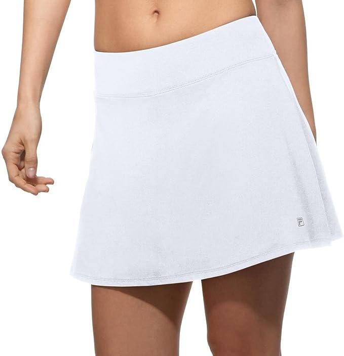 Fila Mujer Core Flare falda pantalón de tenis, 38 cm - Blanco ...
