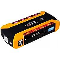 Kit de arrancador de coche portátil 600 A pico 20000 mAh 6,0 L diésel 12 V Auto batería Booster emergencia Power Pack Multi función batería de litio Banco de energía 4 puertos USB teléfono portátil cargador LED linterna brújula SOS