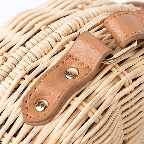 à Sacs paille brun main sac la 1 Mme main la Paille Femme Bag Femmes HopeEye à à Messenger Fait bandoulière de mode Tendances 6qBWvSnf8